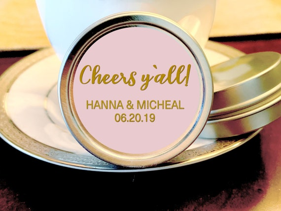 Cheers Y/'all Rehearsal Dinner Favors Your Colors Rehearsal Dinner Mints Rehearsal Dinner Decor Wedding Mints Bridal Shower Mints