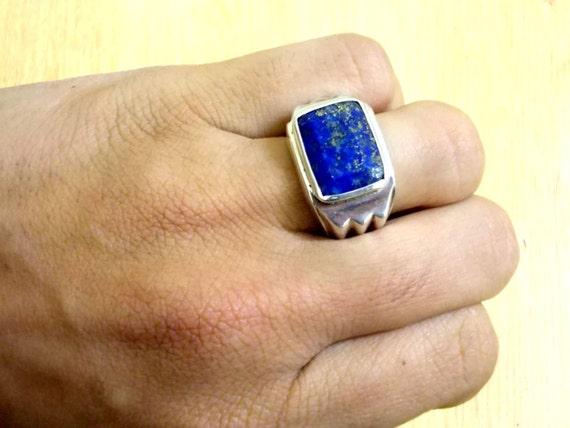 Bague homme en lapis lazuli