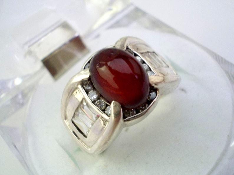 Yemeni Aqeeq Carnelian Agate Sterling Silver Personalized Ring