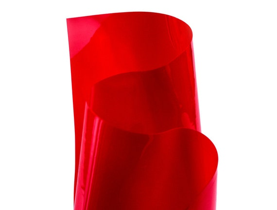 Red transparent vinyl pvc material from mjtrends on etsy studio