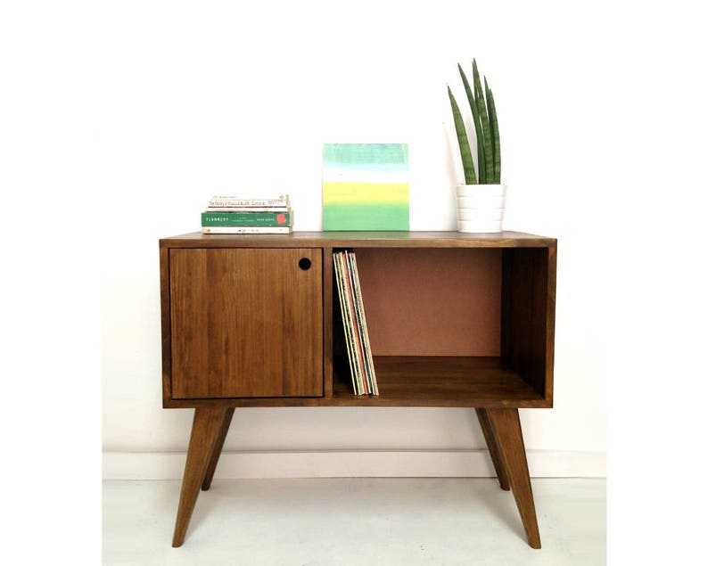 Swell Vinyl Record Storage Mid Century Modern Sideboard Media Console Record Cabinet Tv Stand Mid Century Furniture Side Table Solid Wood Download Free Architecture Designs Scobabritishbridgeorg