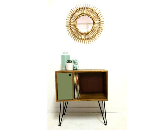Fabulous Vinyl Record Storage Console Table Record Cabinet Sideboard Media Console Vinyl Cabinet Lp Storage Media Unit Olive Table Download Free Architecture Designs Scobabritishbridgeorg