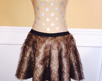 Chewy WOOK Inspired Running skirt/costume Brown