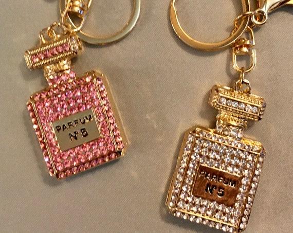 PARIS THEME FAVORS, Paris Theme 50th Birthday, Paris Theme Bridal Shower, Sweet 16 Centerpiece, Bachelorette Gifts, Perfume Bottle Key Chain