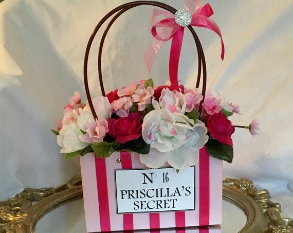 Pink Shopping Bag Centerpiece, Pink Centerpiece, Sweet 16 Centerpiece, Bridal Shower Centerpiece, 50th Birthday Centerpiece, 21st Birthday