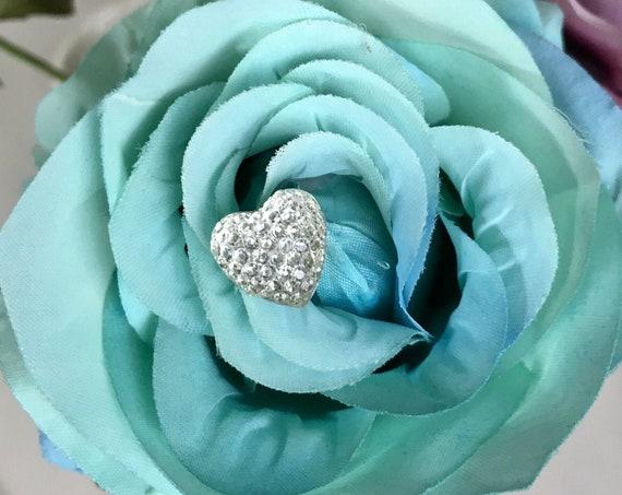 12pc HEART BOUQUET PINS, Hidden Hearts, Bouquet Heart Pins, Corsage Pins, Boutonniere Pins, Heart Pins, Silk Flower Pins, Frest Flower Pins