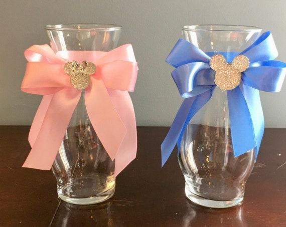 MICKEY FLOWER VASE, Mickey Vase, Minnie Flower Vase, Disney Wedding Centerpiece, Mickey Birthday Decoration, Minnie Baby Shower centerpiece