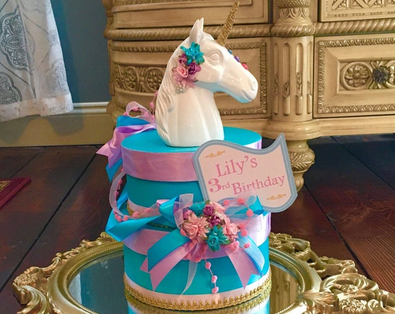 Unicorn birthday party decor, Unicorn 1st birthday centerpiece, Unicorn theme party, kids birthday ideas, 1st birthday centerpiece, unicorns