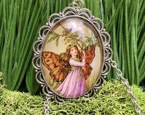 PURPLE FAIRY NECKLACE, Purple Fairy Pendant, Fairy Jewelry, Whimsical Fairy Pendant, Fairy Jewelry, Fairy Pendant, Bridesmaid Gift, Fairies
