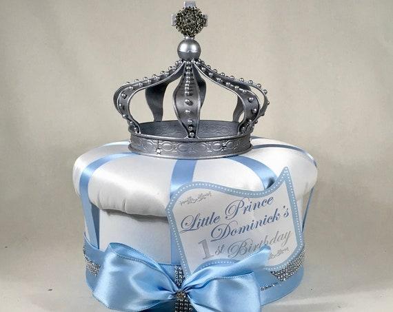 CROWN CENTERPIECE, 1st Birthday Centerpiece, Christening Centerpiece, Sweet 16 Centerpiece, Boy Birthday, Crown Decorations, Royal Wedding