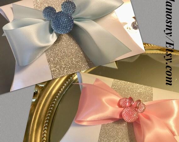 6pc favor box, Mickey wedding decorations, Mickey wedding theme, Mickey party decoration, Mickey party decorations, Minnie party decorations