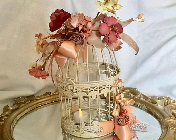 rose gold birdcage centerpiece, birdcage centerpiece, birdcage card box, birdcage candle centerpiece, bridal shower centerpiece, wedding