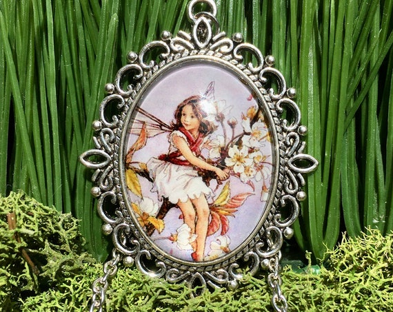 FAIRY NECKLACE, White Fairy Necklace, White Fairy Pendant, Whimsical Fairy Pendant, Fairy Jewelry, Fairy Pendant, Bridesmaid Gift, Fairies