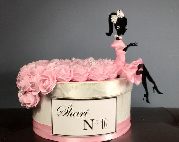BARBIE CENTERPIECE, Sweet 16 Centerpiece, Glitz and Glam Birthday Centerpiece, 50th Birthday Centerpiece, Paris Theme Decoration, Paris
