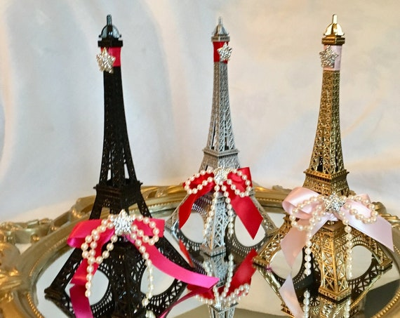 Eiffel tower centerpiece, Eiffel tower cake top, Parisian theme birthday, Paris theme sweet 16, bridal shower centerpiece,  50th b'day decor
