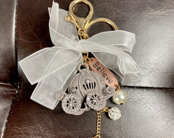 CINDERELLA COACH PURSE Charm, Cinderella Coach Key Chain, Cinderella Coach Charm, Cinderella Wedding, Cinderella Bridesmaid Gift, Disney