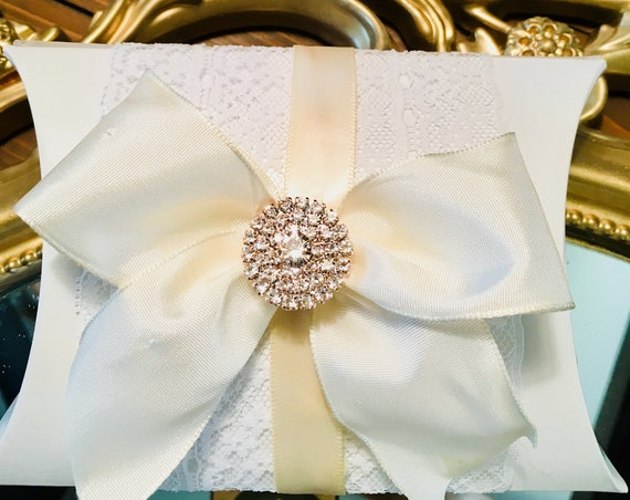 6pc, WEDDING FAVORS, Rhinestone Favor Box, Bridal Shower Favors, Sweet 16 Favor, Bling and Glam Party Favor, Communion Favors, Gift Card Box