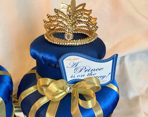 Royal Blue and Gold, Crown centerpieces, crowns, royal wedding, princess birthday, cinderella decorations, princess decorations, prince