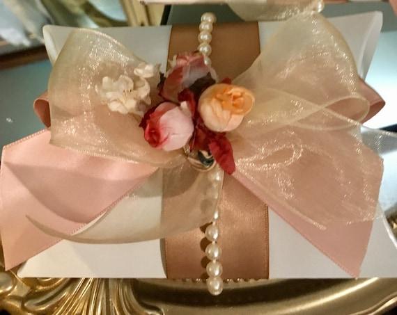 6pc Favor boxes, gift boxes, bomboniere, bridal shower favors, baby shower favors, birthday favors, koufeta, pouch boxes, pillow box favors