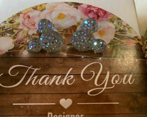 MICKEY MOUSE EARRINGS, Fairytale Earrings, Minnie Mouse Earrings, Disney Flower Girl Gift, Disney Wedding Gifts, Disney Bridal Party Gift
