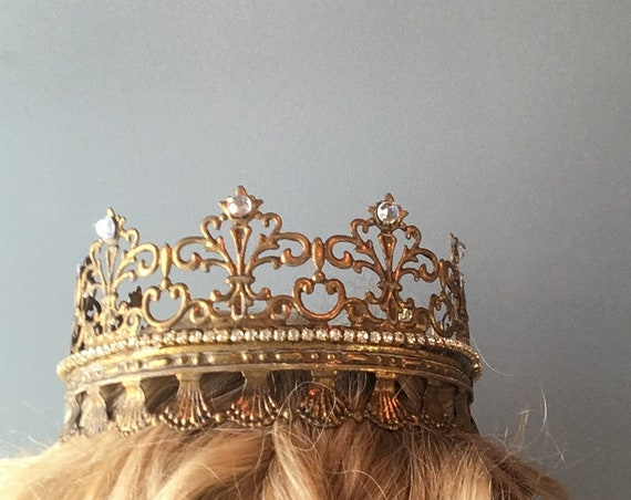 full size gold crown, wearable crown, birthday crown, childerns wearable crown, wreaths and tiaras, photography prop, metal crown