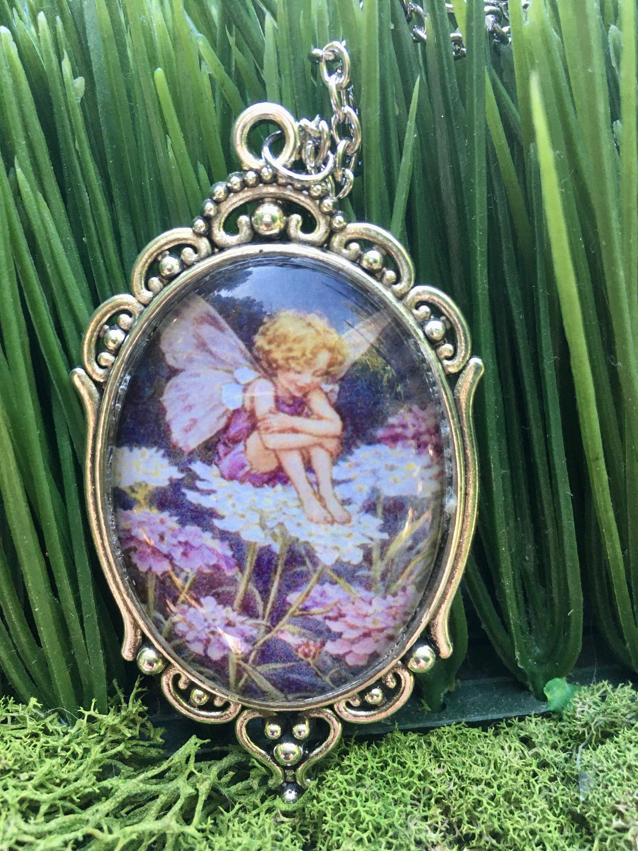 Fairytale Jewelry Bridesmaid Gift Fairy Jewelry Fairies Fairy Pendant Whimsical Fairy Pendant Red Fairy Pendant RED FAIRY NECKLACE