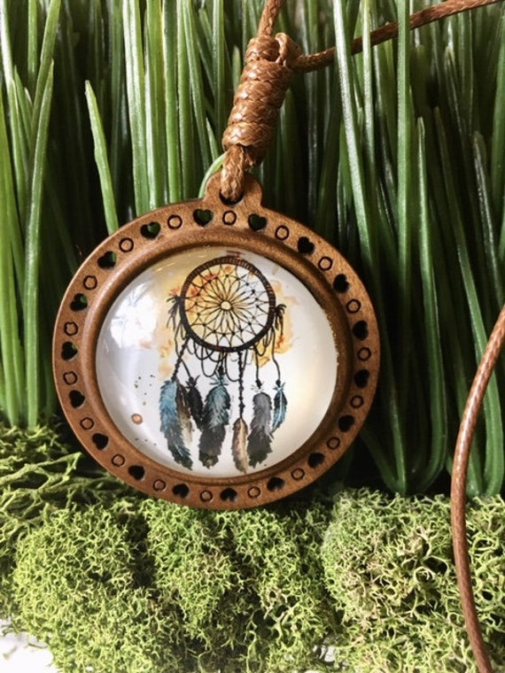 YELLOW DREAM CATCHER Necklace, Dream Catcher Pendant, Dream Catcher Jewelry, Bohemian Favors, Boho Jewelry, Dream Catcher Favors, Tribal