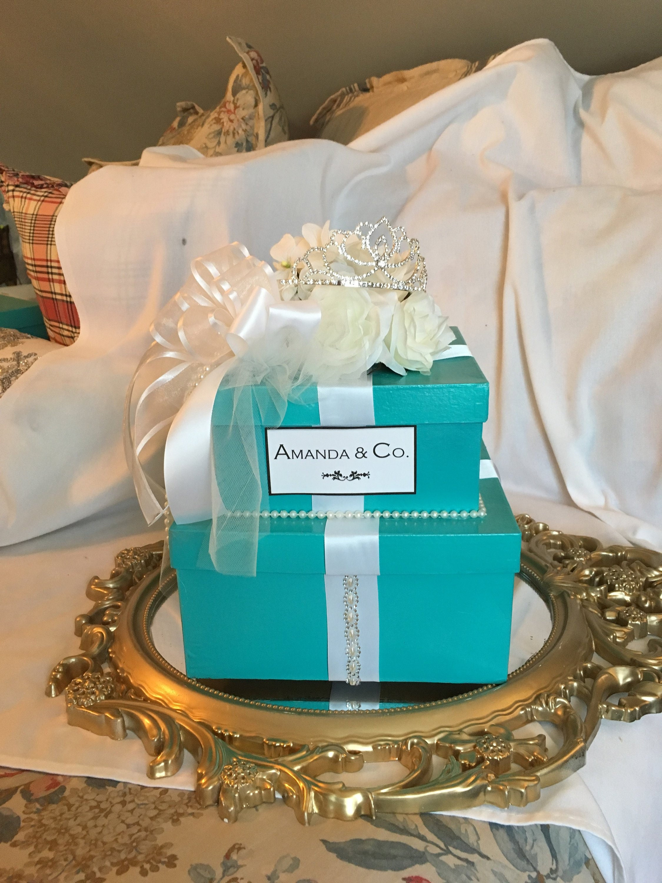 Baby And Co Shower Centerpiece Tiffany Inspired Centerpiece Tiffany