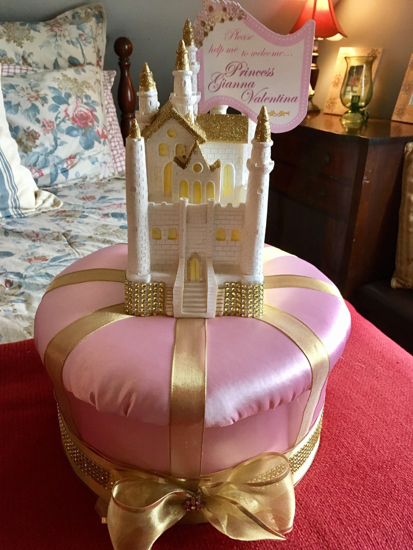 Baby Shower Centerpiece CINDERELLA CASTLE CENTERPIECE Crown Decoration Princess Birthday Party Sweet 16 Centerpiece Cinderella Wedding
