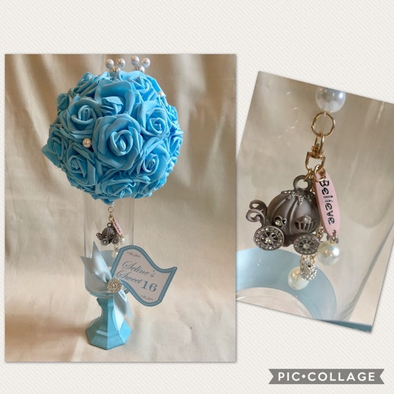 CINDERELLA CENTERPIECE, Cinderella Sweet 16, Disney Wedding Centerpiece, Fairytale Wedding, Communion Centerpiece, Cinderella 1st Birthday