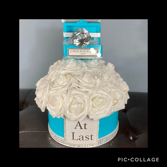 ENGAGEMENT PARTY CENTERPIECE, Diamonds Are a Girls Best Friend Centerpiece, Engagement Party Decor, Diamond Ring Centerpiece, 50th Birthday