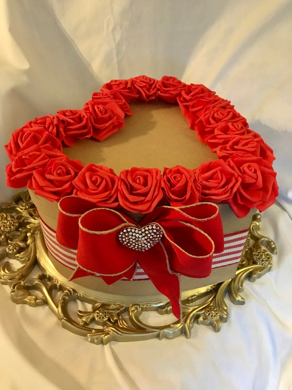 HEART CENTERPIECE, Valentine Decor, Valentine Gift, Valentine Box, Valentine Wedding Decorations, Heart Theme Wedding, Heart Decorations