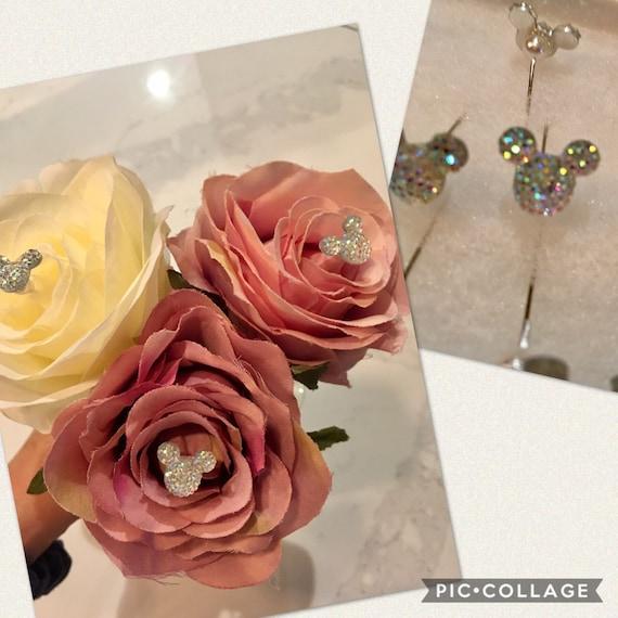 12pc HIDDEN MICKEY BOUQUET Pin, Disney Wedding Bouquet Pin, Mickey Boutonniere Pin, Mickey Corsage Pin, Disney Wedding Centerpiece Pin