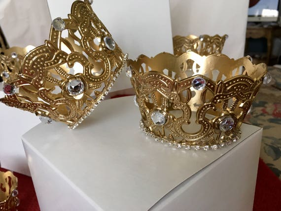 4pc Crowns Crown Centerpieces Royal Wedding Royal Birthday Etsy
