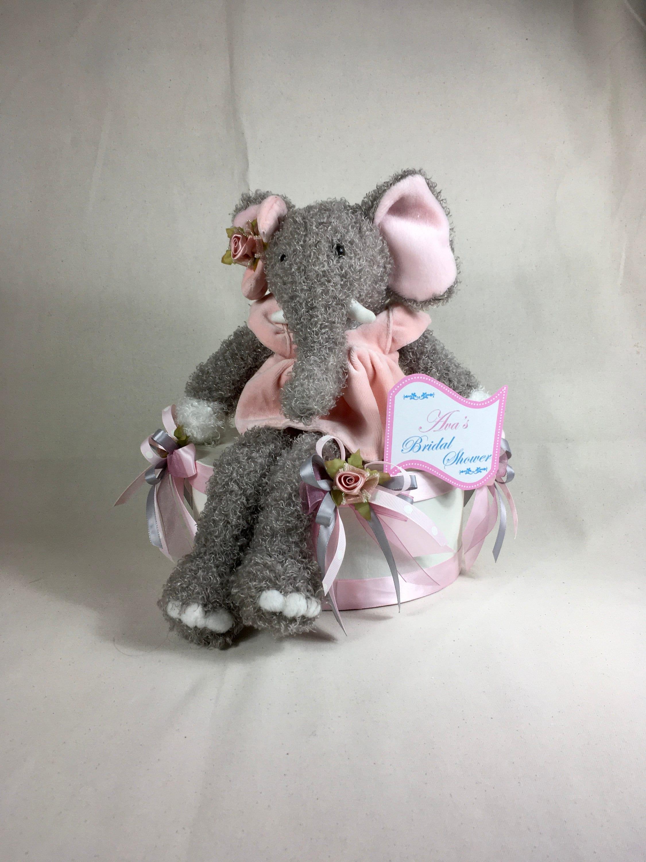 Elephant Centerpiece Baby Girl Shower Centerpiece Baby Girl Room Decor Elephant Room Decor Pink Elephant Room Decor Baby Room Decor