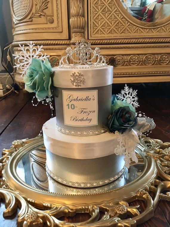 FROZEN THEME CENTERPIECE, Frozen Theme Birthday, Winter Theme Bridal Shower, Winter Theme Sweet 16, First Birthday Centerpiece, Frozen Theme
