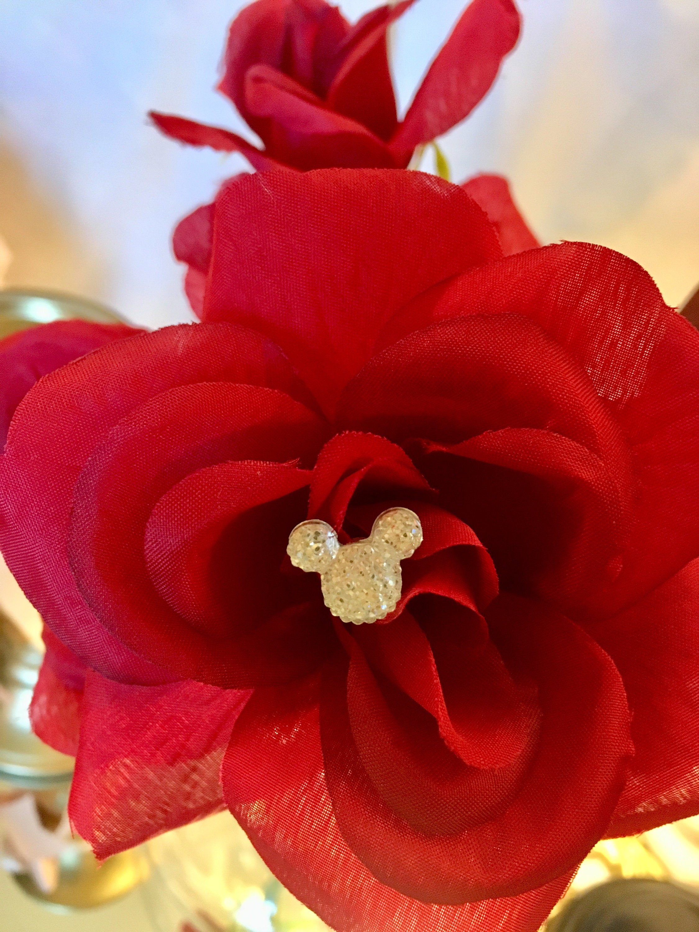 Disney Wedding FREE SHIP 6 Silver Tone Hidden Mouse Ears in your Bouquets for Themed Wedding Flower Pins Floral Picks Reception Centerpieces