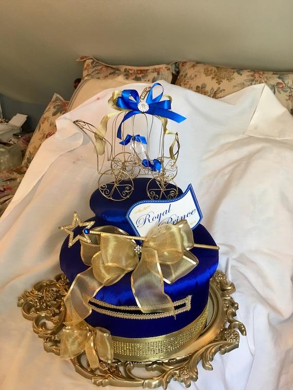 Cinderella mailbox, cinderella decor, sweet 16 centerpiece, bridal shower centerpiece, baby shower centerpiece, princess theme party, prince