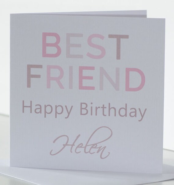 Personalised Birthday Card For A Best Friend Bff Friendship Etsy