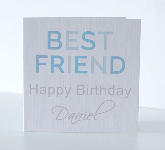 Personalised Birthday Card For A Male Best Friend Etsy
