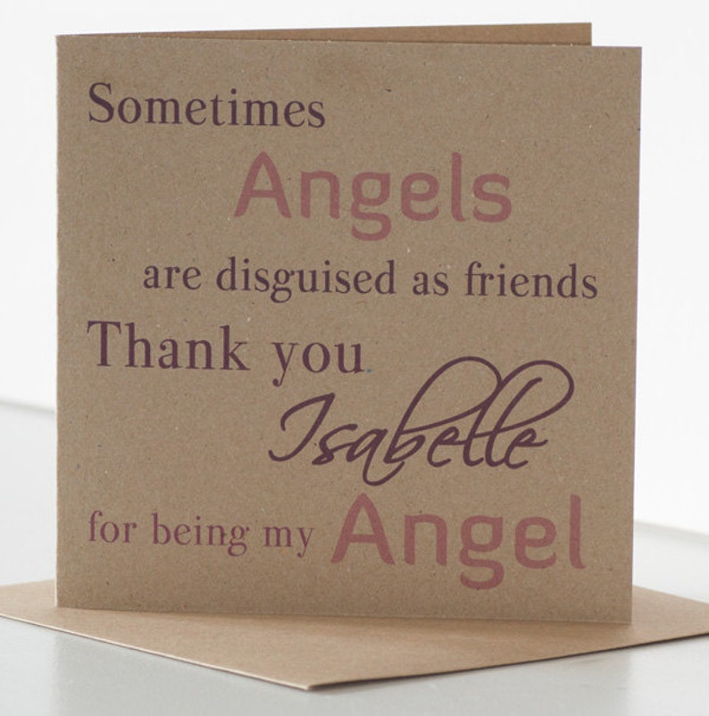 Angel Birthday Card For A Friend Best Or Special