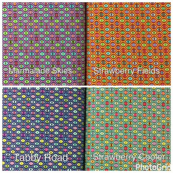 Quilting Fabric Lucy Marmalade Skies by Tula Pink Tabby Road