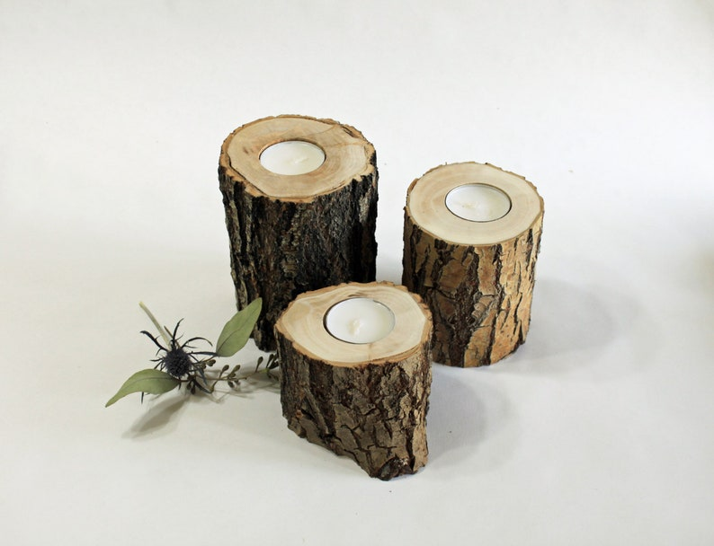 3 Reclaimed Willow Candle Holders-Rustic Wedding Decor House image 0