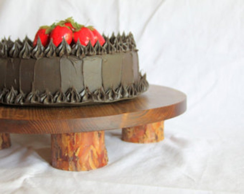 Free Shipping Rustic cake stand Rustic wedding cake stand image 0