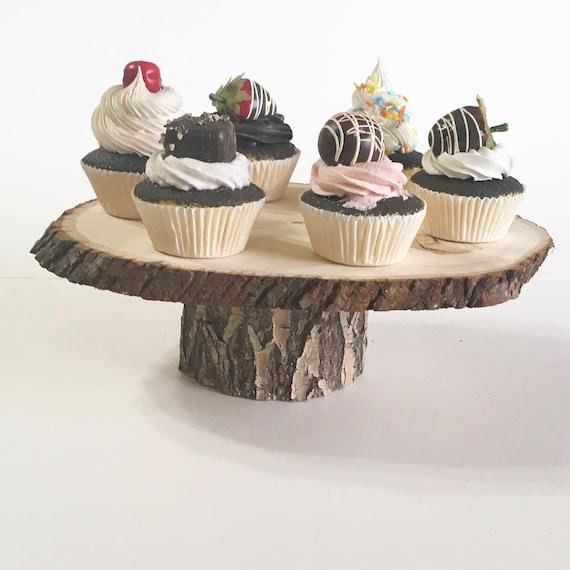 10 Rustic Mini wood slice Cupcake Stands ~ 3-4 tops ~ Rustic Weddings ~ Woodland Baby showers ~ Reunions ~ Graduation ~ Birthday parties