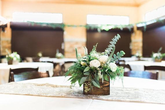 Wedding Centerpiece Rustic Wedding Decor Table Decorations Reclaimed Wood Centerpiece Rustic Wood Box Bridal Shower Decor Dinner Party