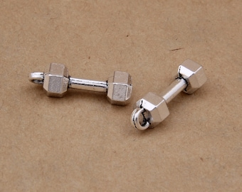 2 Cross Connector Charms Antique Silver Tone Set Free SC2247