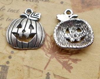 Jack-O-Lantern Carved Pumpkin Halloween Lobster Clip Dangle Charm for Bracelets