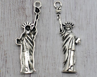 50 x The Statue of Liberty Charms DIY Jewelry Findings