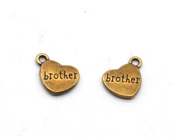 Bulk 25 Pcs Son Charms Family Charms Pendants Antique Silver Tone 2 Sided 15x17mm YD0693